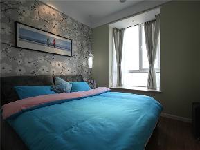 简约 三居 公寓 80后 小资 白领 卧室图片来自高度国际姚吉智在130平米现代简约三居蓝精灵的分享