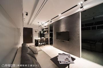 黑白现代风 43平狭长宅放大术