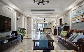 客厅图片来自家装大管家在灵动脱俗 168平简约美式混搭3居的分享