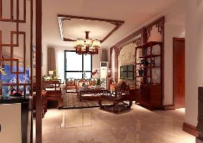 三居 雅宾利花园 中式风格 客厅图片来自百家设计小刘在雅宾利花园135平中式风格的分享
