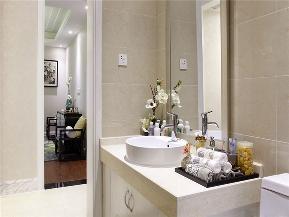中式 四居 大户型 公寓 80后 小资 新中式 卫生间图片来自高度国际姚吉智在165平米新中式诗意东方追求自然的分享