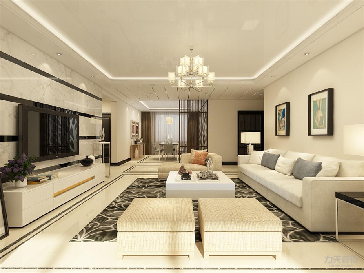 造型大气墙电视v造型,凸显走廊.石材做拉缝主题,显示背景.平潭装修公司前十强