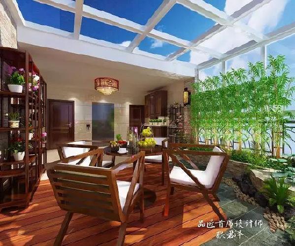 """新中式风格讲究纲常、对称,以阴阳平衡概念调和室内生态。选用天然的装饰材料,运用""""金、木、水、火、土""""五种元素组合规律,来营造禅宗式理性和宁静的环境。"""