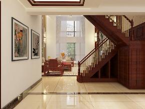 复试 中式 楼梯图片来自昆明九创装饰分公司在建工新城288㎡复式中式装修的分享