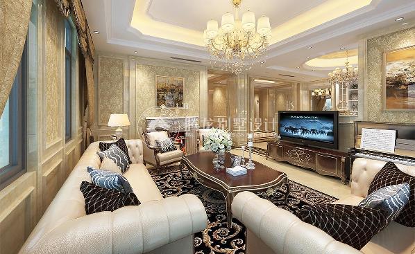 崇明岛昱墅别墅450平欧式风格设计方案展示,上海腾龙别墅设计师祝炯作品!