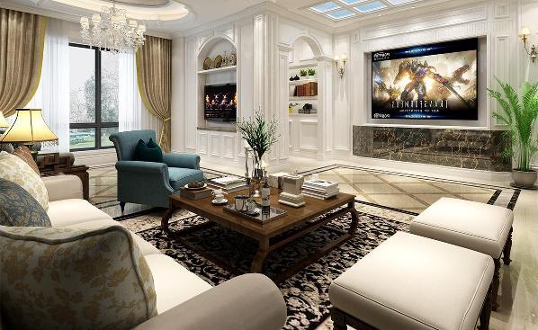 康桥半岛独栋别墅简欧风格设计,上海腾龙别墅设计师朱旻玉作品,欢迎品鉴