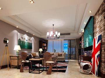 莱蒙都会-美式风格-三居室