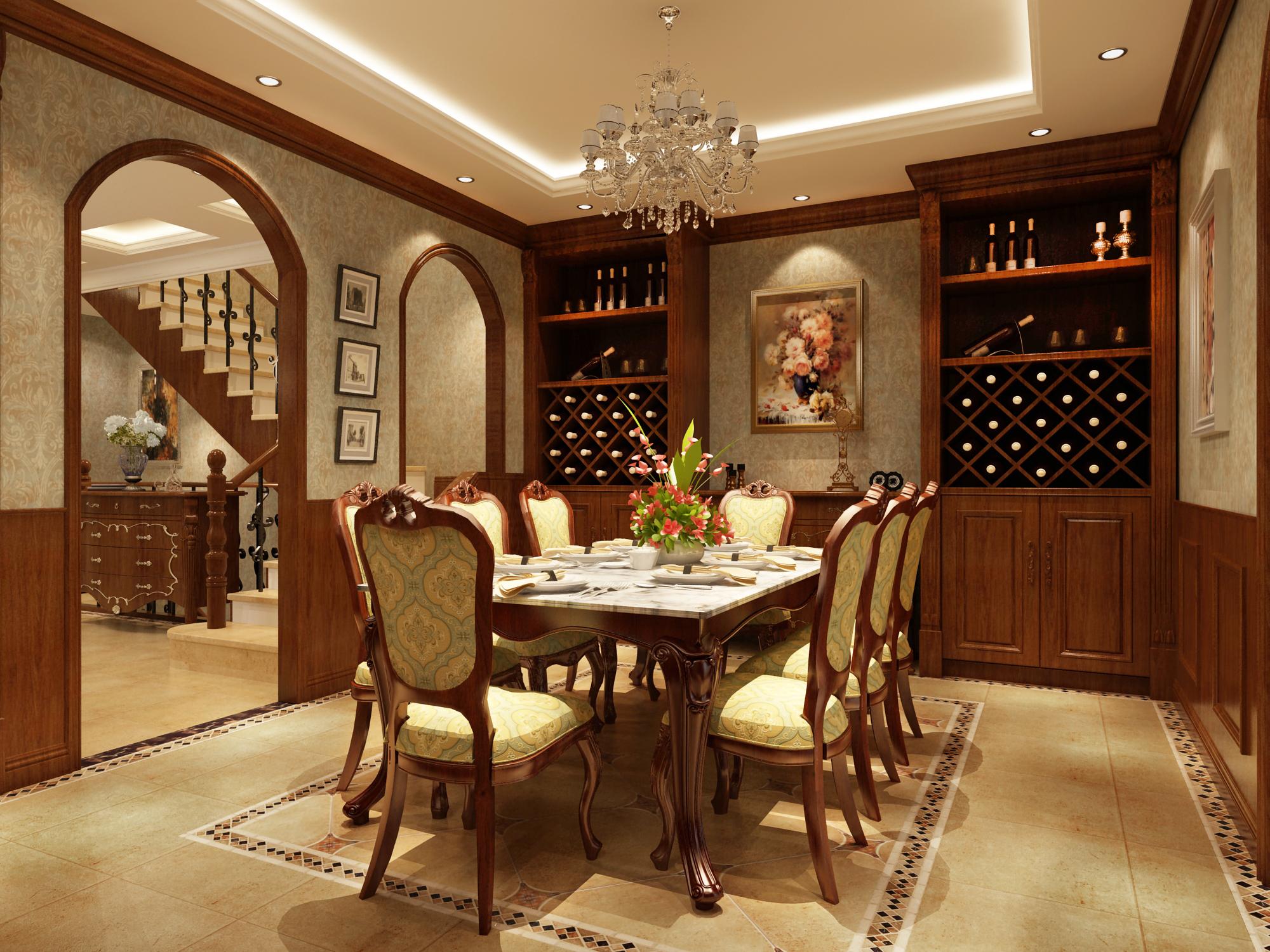 餐厅图片来自圣奇凯尚室内设计工作室在芳华世桥.龙湖好望山的分享
