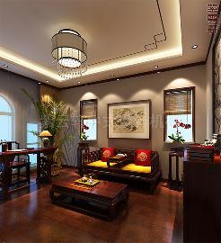 北京大兴现代中式别墅装修实例