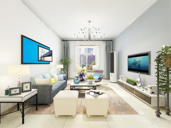 客厅沙发背景墙用挂画简单装饰。整体色调暖色为主,深色的地毯点缀,形成视觉上的美观。        餐厅的很简单明了,装饰画增加餐厅的情调。