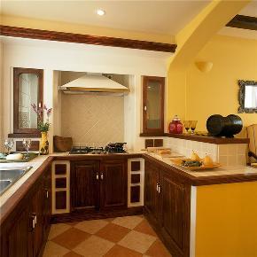 地中海 别墅 大户型 跃层 复式 小资 高帅富 厨房图片来自高度国际姚吉智在256平米清新雅致地中海别墅的分享