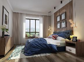 现代 简约 温馨 卧室 卧室图片来自圣奇凯尚室内设计工作室在圣奇凯尚装饰-国风美唐后现代的分享