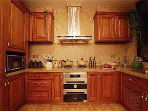 美式 别墅 大户型 跃层 复式 小资 高帅富 厨房图片来自高度国际姚吉智在220平米美式别墅钟爱复古狂享曲的分享