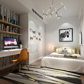 简约 混搭 小资 80后 收纳 现代 卧室图片来自圣奇凯尚室内设计工作室在圣奇凯尚装饰-K2玉澜湾混搭风的分享