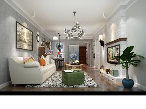 简约 混搭 小资 80后 收纳 现代 客厅图片来自圣奇凯尚室内设计工作室在圣奇凯尚装饰-K2玉澜湾混搭风的分享