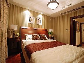 美式 别墅 大户型 跃层 复式 小资 高帅富 卧室图片来自高度国际姚吉智在220平米美式别墅钟爱复古狂享曲的分享