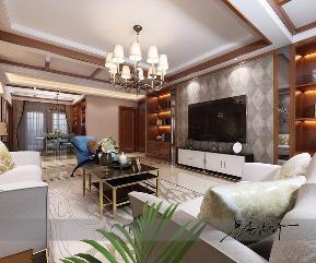 三居 鲁商 蓝岸丽舍 美式 小资 客厅图片来自实创装饰小彩在鲁商蓝岸丽舍168平现代美式的分享