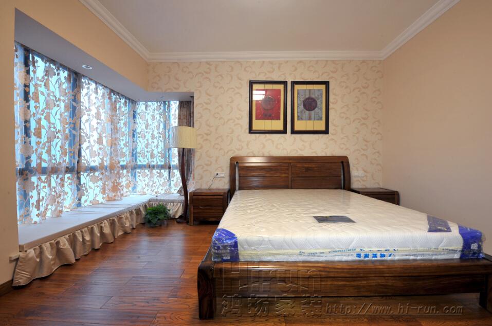 卧室图片来自鸿扬家装武汉分公司在福星惠誉东湖城145-鸿扬家装的分享