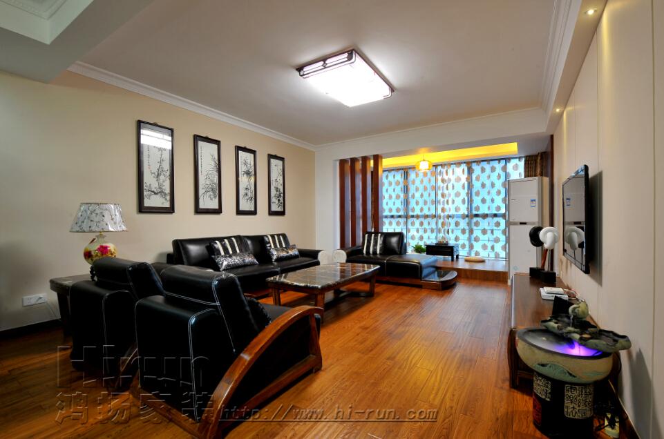 客厅图片来自鸿扬家装武汉分公司在福星惠誉东湖城145-鸿扬家装的分享