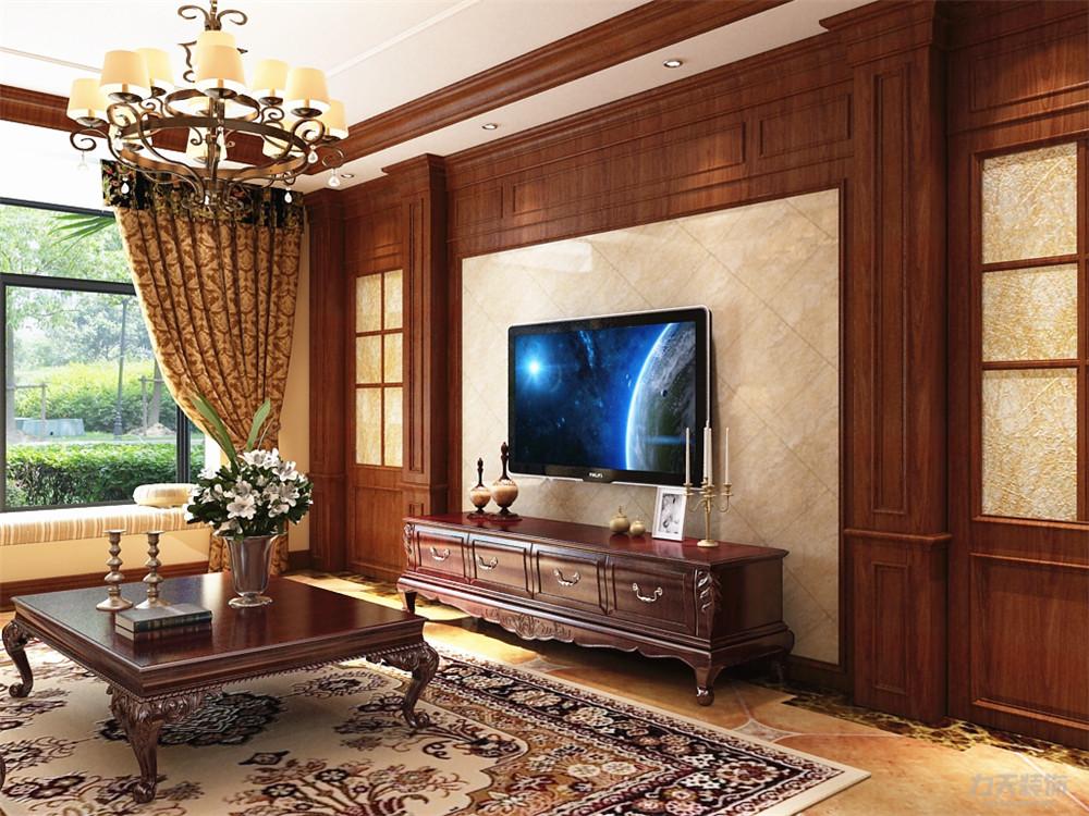 客餐厅的设计风格为美式古典风格,古典风格的家具不仅图片