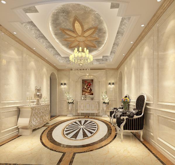 法式家居使用洗白处理与华丽配色,洗白手法传达法式乡村特有的内敛特质与风情,配色以白、金、深色的木色为主调。