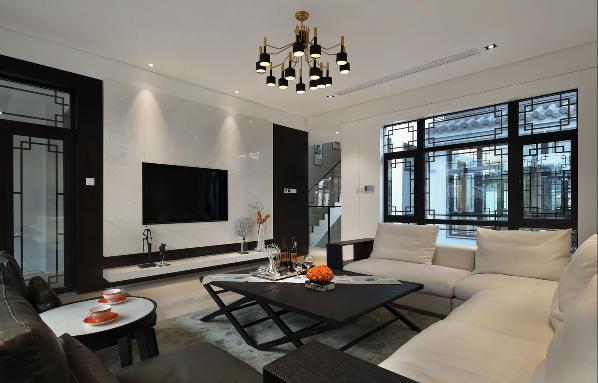 上海桃花源别墅装修中式风格设计,上海腾龙别墅设计作品,欢迎品鉴