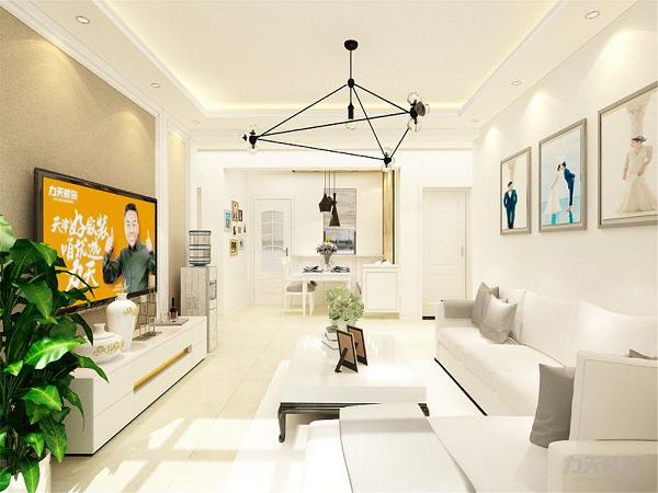 客餐厅的空间有限,太繁杂的家具造型会在视觉氛围上影响空间的大小,因此在家具的选择上,也都挑选简单而有创意的造型,使空间看起来简单而又不失趣味。