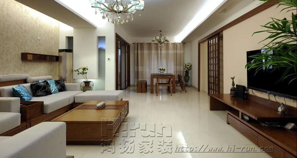 中式 三居 收纳 客厅图片来自鸿扬家装武汉分公司在广电兰亭荣荟120(2)-鸿扬家装的分享