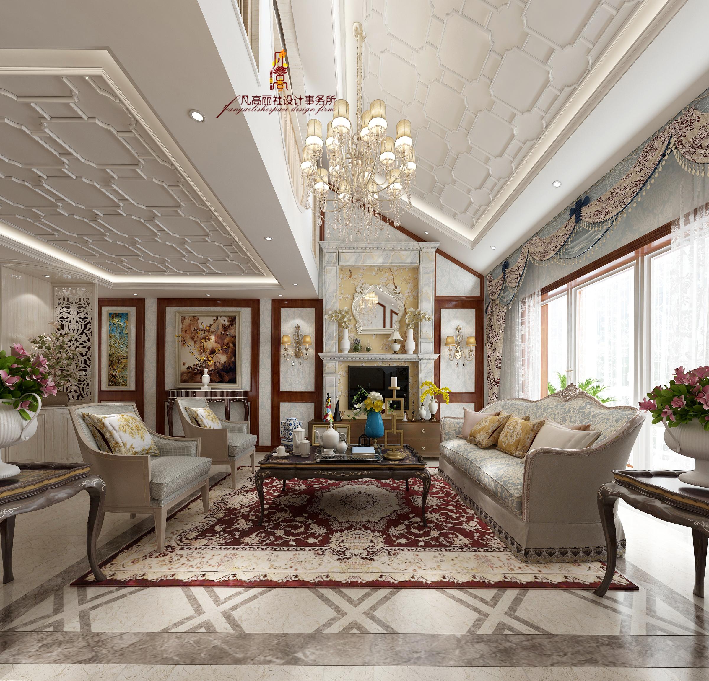 原创设计 客厅图片来自天津凡高丽社空间设计事务所在美式新古典-轻奢图片