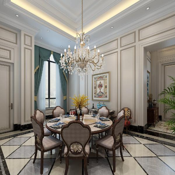 豪宅 餐厅图片来自上海尚层装饰官网在邑品庄园2000㎡