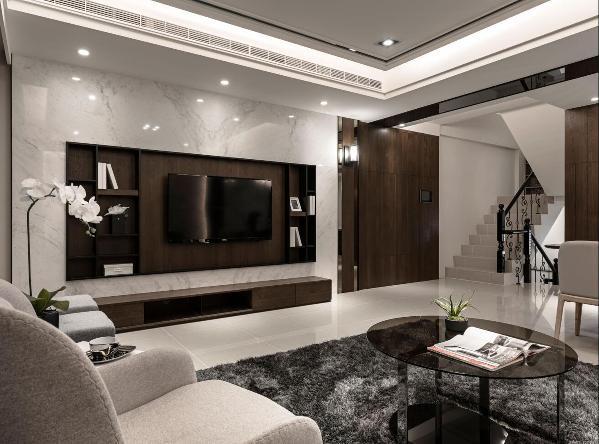 万科第五园别墅装修现代风格设计,上海腾龙别墅设计师许文斌作品,欢迎品鉴