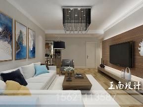 港式 三居 80后 客厅图片来自阔达装饰小段在青岛阔达公园美地130平港式风格的分享