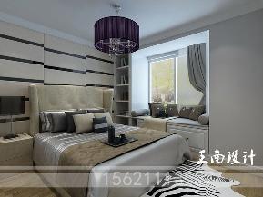 港式 三居 卧室 卧室图片来自阔达装饰小段在青岛阔达公园美地130平港式风格的分享