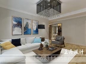 港式 三居 客厅 客厅图片来自阔达装饰小段在青岛阔达公园美地130平港式风格的分享