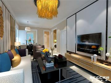 浮山后80平两居室现代简约