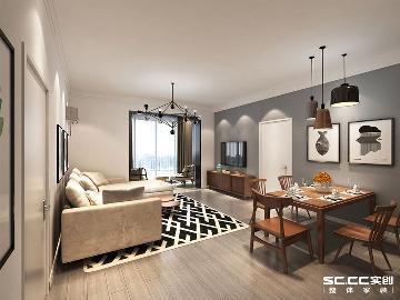 科大人才公寓80平两居室北欧装修