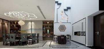 万科棠樾新中式风格别墅