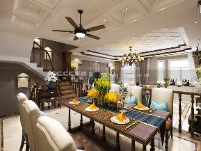 别墅 金秋泰和郡 实创 美式 新古典 餐厅图片来自实创装饰小彩在新古典美式金秋泰和郡318平装修的分享