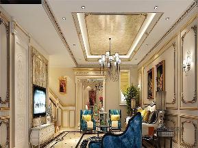 法式 新古典 别墅 跃层 大户型 复式 高帅富 客厅图片来自高度国际姚吉智在320平米法式别墅皇家风范的品味的分享