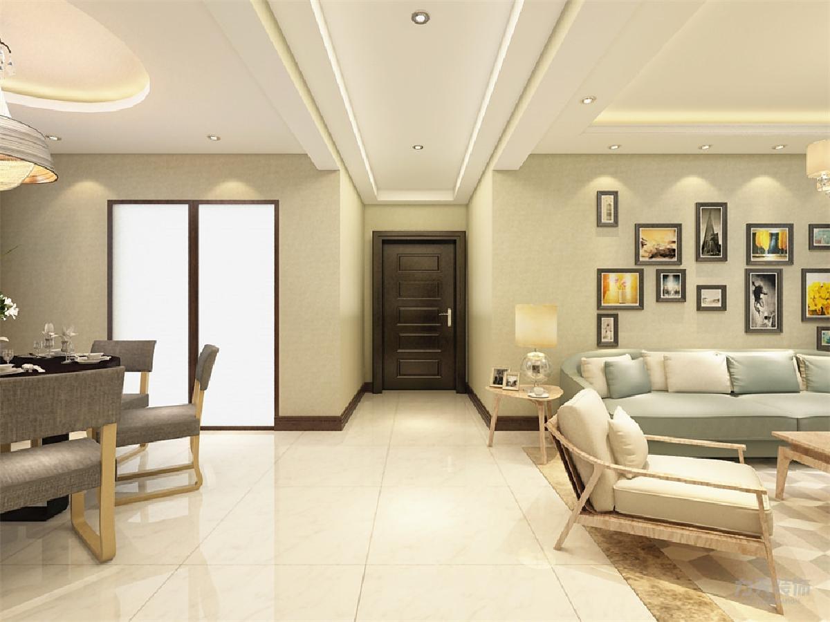 客厅吊顶用石膏线做的造型.