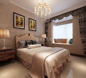 鲁班装饰 新古典 三居室 装修设计 效果图 客厅 餐厅 电视墙 卧室 卧室图片来自西安鲁班装饰设计在梧桐苑三居室160平米新古典风格的分享