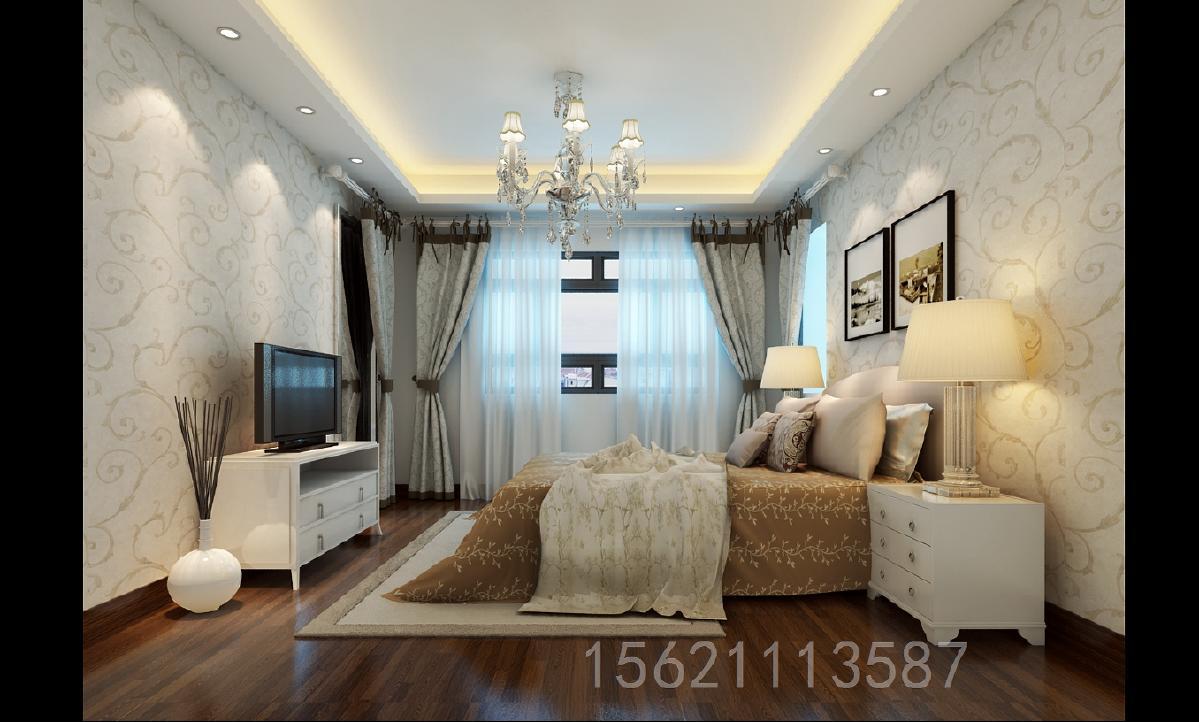 时代城113平现代简约风格卧室