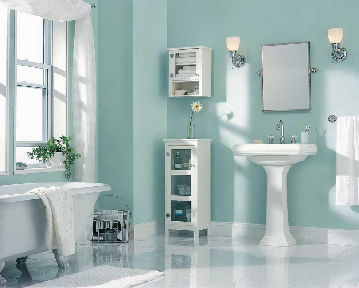 你的墙壁不是唯一可以在你的浴室使用颜色的空间。如果你对你的墙壁添加颜色犹豫,在空间里添加一个粉红色的橱柜。粉蓝色新鲜柔软,同时仍然放松。当你想要创造一个干净和清脆的绿洲感觉的同时,这种颜色是伟大的。