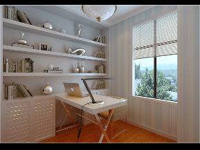简约 二居 峰光无限 书房图片来自西安峰光无限装饰在群贤道九号二居95㎡现代简约风格的分享