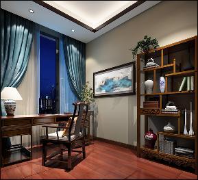 别墅 中式 书房图片来自李飞在富春山居新中式别墅的分享