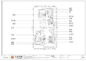 中式 新中式 二居 小资 收纳 户型图图片来自阳光力天装饰在力天装饰-夏洛兹花园-124.31㎡1的分享