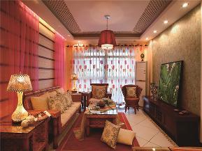 田园 东南亚 三居 四居 大户型 复式 跃层 小资 客厅图片来自高度国际姚吉智在175平米东南亚原木幻彩添新意的分享