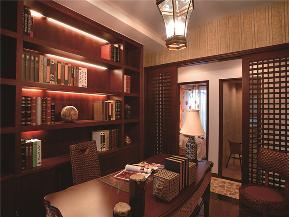 田园 东南亚 三居 四居 大户型 复式 跃层 小资 书房图片来自高度国际姚吉智在175平米东南亚原木幻彩添新意的分享