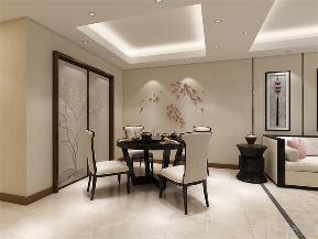 中式 新中式 二居 小资 收纳 餐厅图片来自阳光力天装饰在力天装饰-夏洛兹花园-124.31㎡1的分享