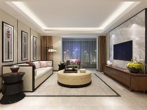 中式 新中式 二居 小资 收纳 客厅图片来自阳光力天装饰在力天装饰-夏洛兹花园-124.31㎡1的分享